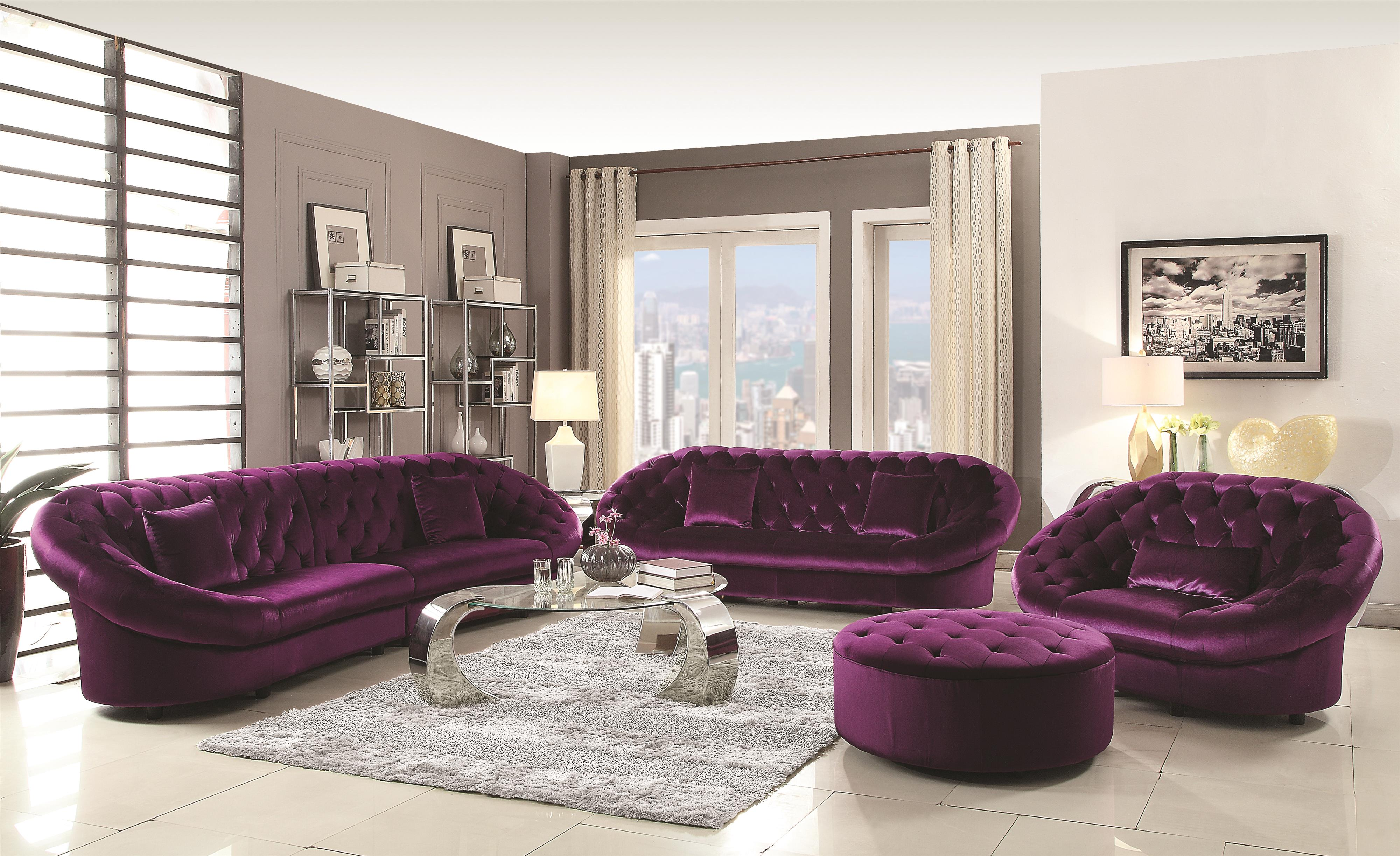 Coaster Romanus Living Room Group - Item Number: 51104 Living Room Group 2