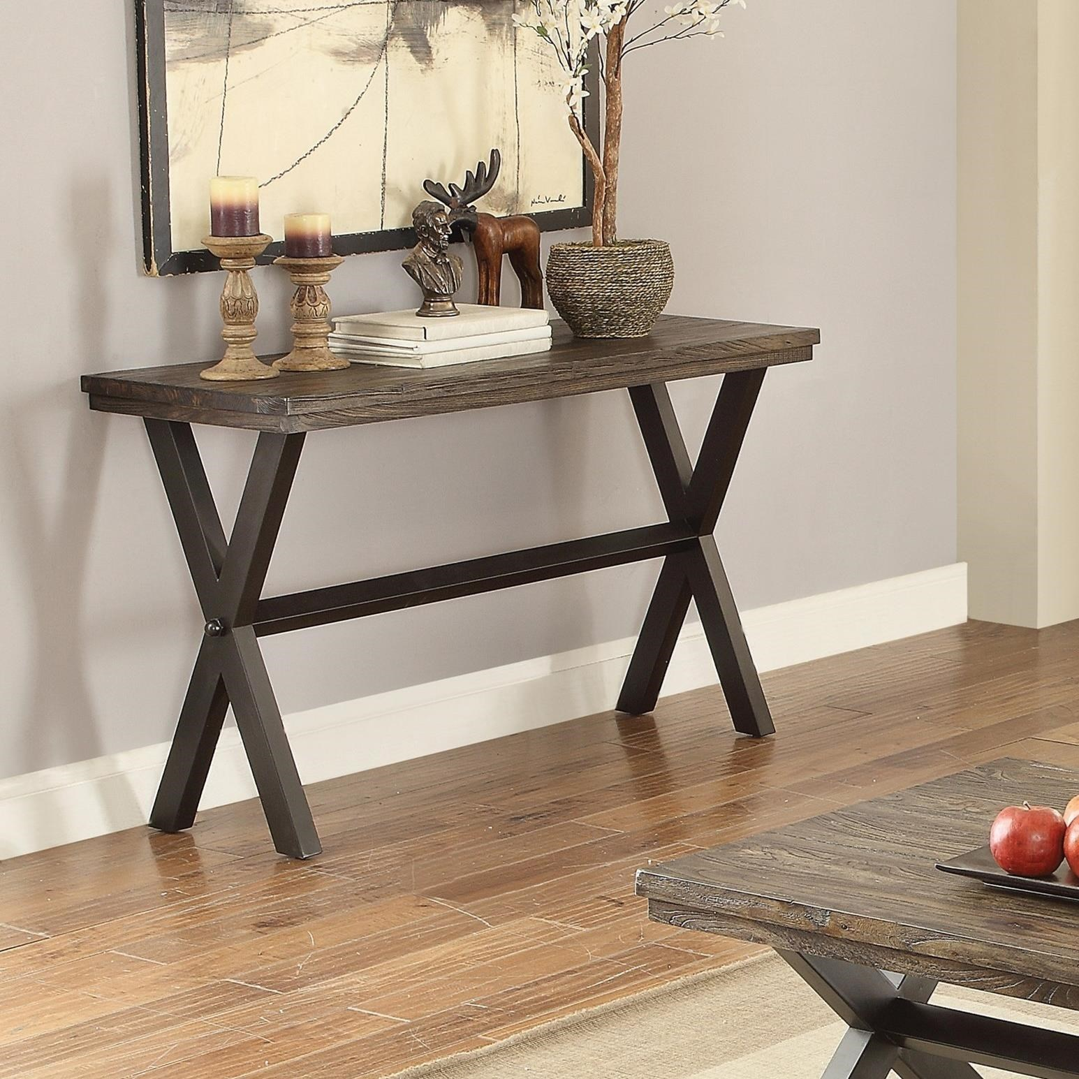 Coaster Romilly 705279 Rustic Sofa Table Dunk Amp Bright