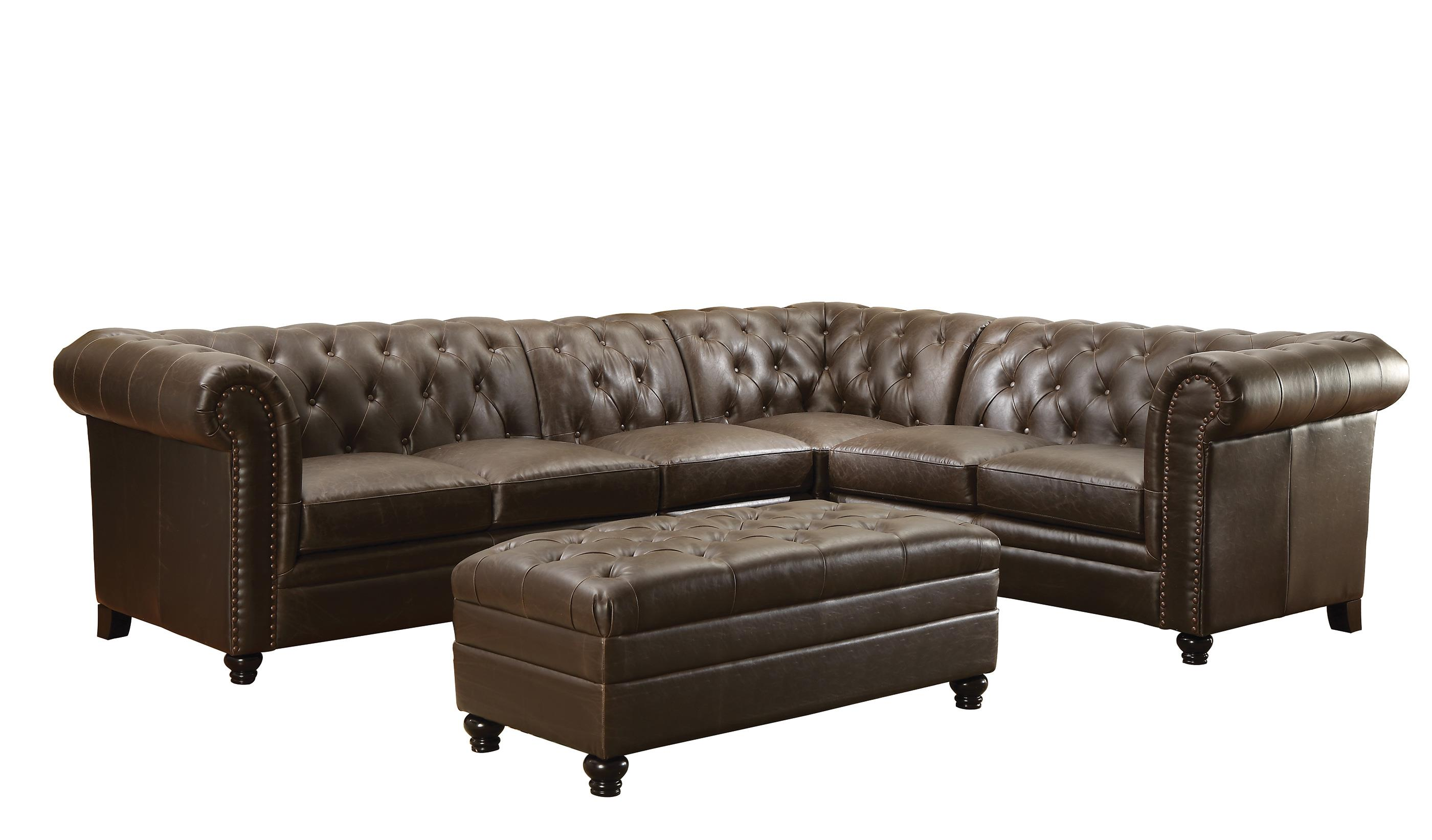 Coaster Roy Sectional Sofa with Armless Chair - Item Number: 500268+500268AC
