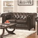 Coaster Roy Traditional Button-Tufted Love Seat with Rolled Back and Arms - 504552
