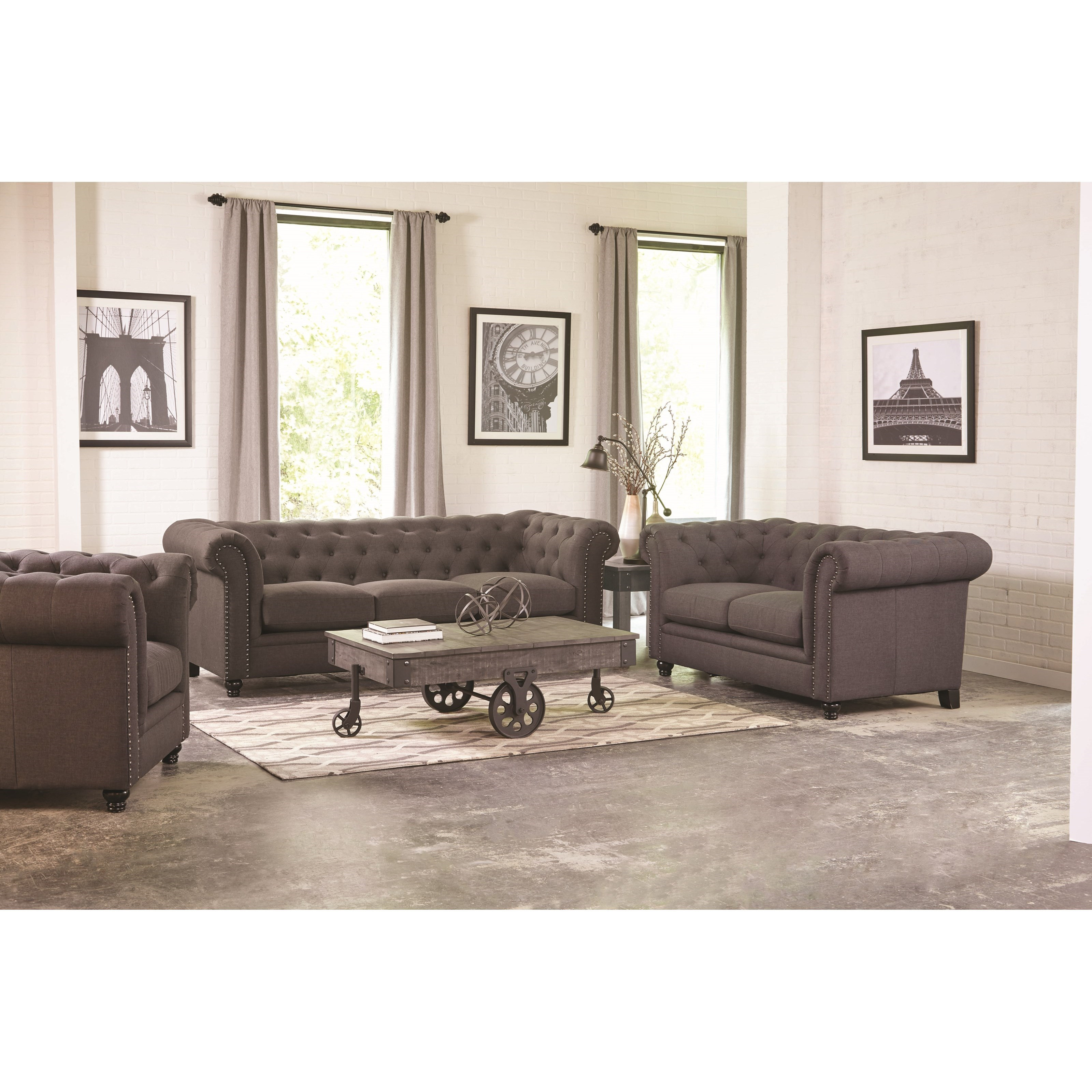 Coaster Roy Stationary Living Room Group - Item Number: 550360 Living Room Group 1