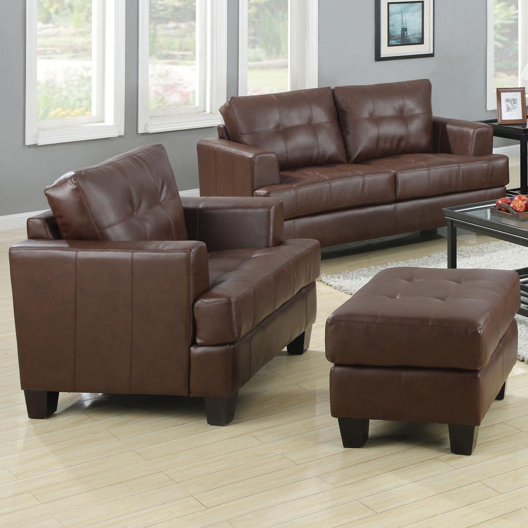 Coaster Samuel Chair and Ottoman - Item Number: 504073+74