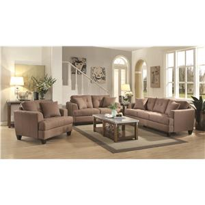 Coaster Samuel Sofa Stationary Living Room Group