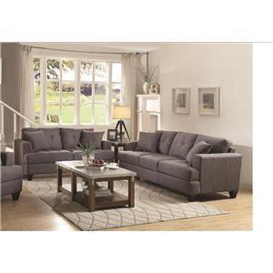 Coaster Samuel Sofa Sofa & Love Seat
