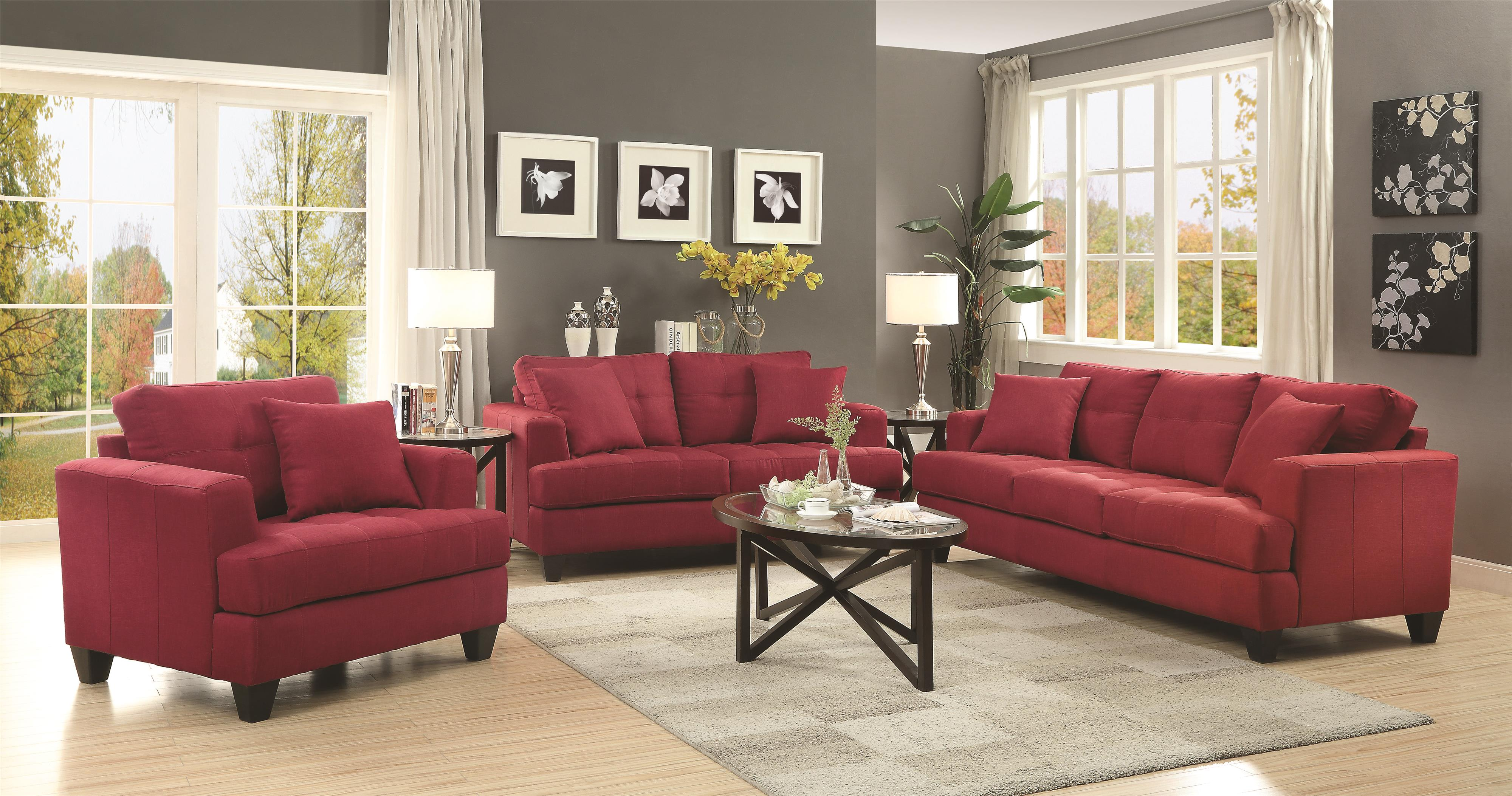 Coaster Samuel Sofa Stationary Living Room Group - Item Number: 50518 Living Room Group 1