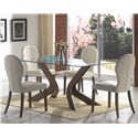 Coaster San Vicente Glass Top Rectangular Dining Table - 120361 - Shown with Chair