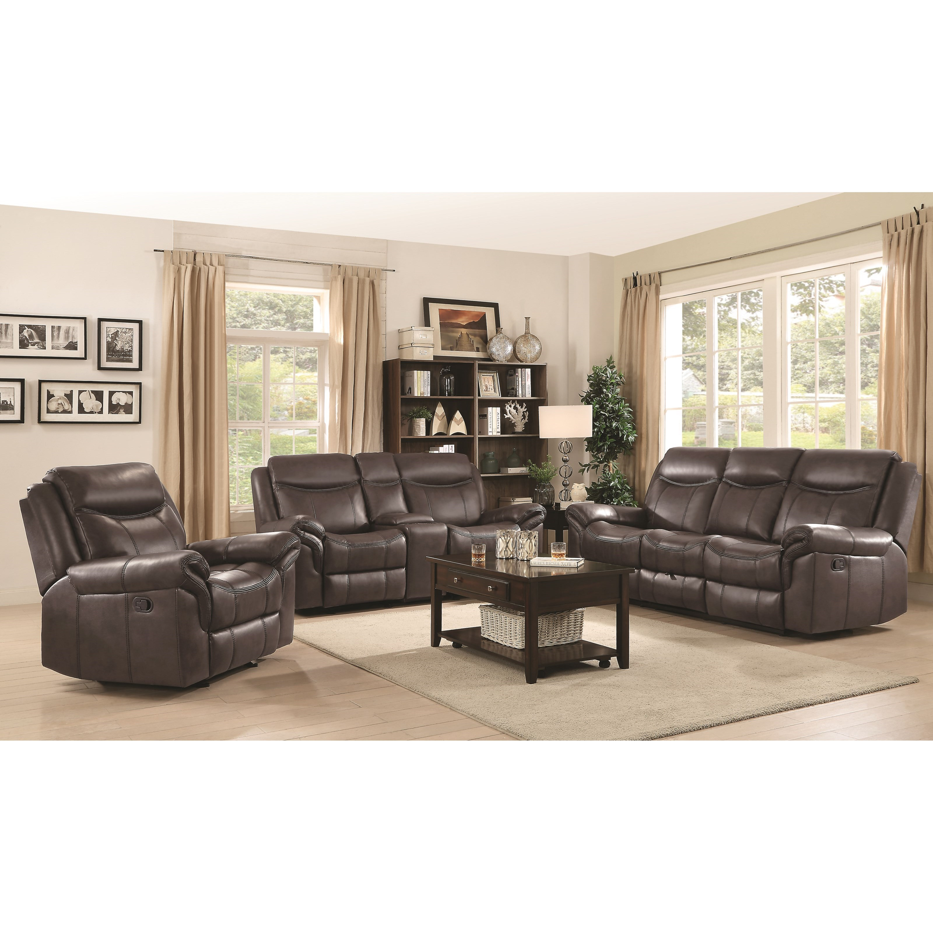 Fine Living Room Furniture: Fine Furniture Sawyer Motion Reclining Living Room Group