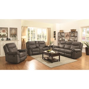 Coaster Sawyer Motion Reclining Living Room Group