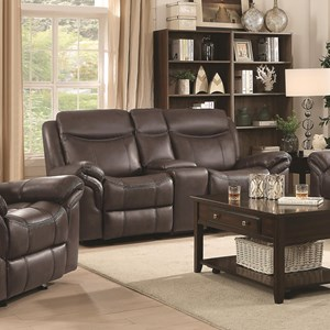 Coaster Sawyer Motion Glider Motion Loveseat
