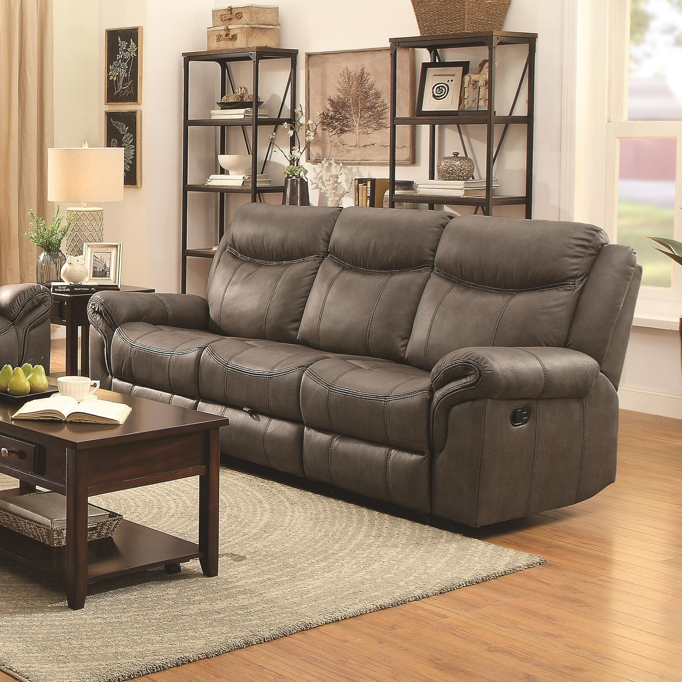 Coaster Sawyer Motion Motion Sofa with Pillow Arms and