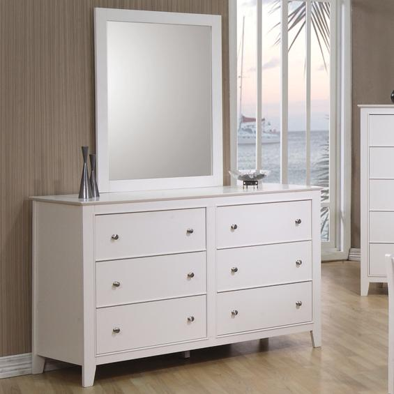 Coaster Selena Dresser and Mirror - Item Number: 400233+4