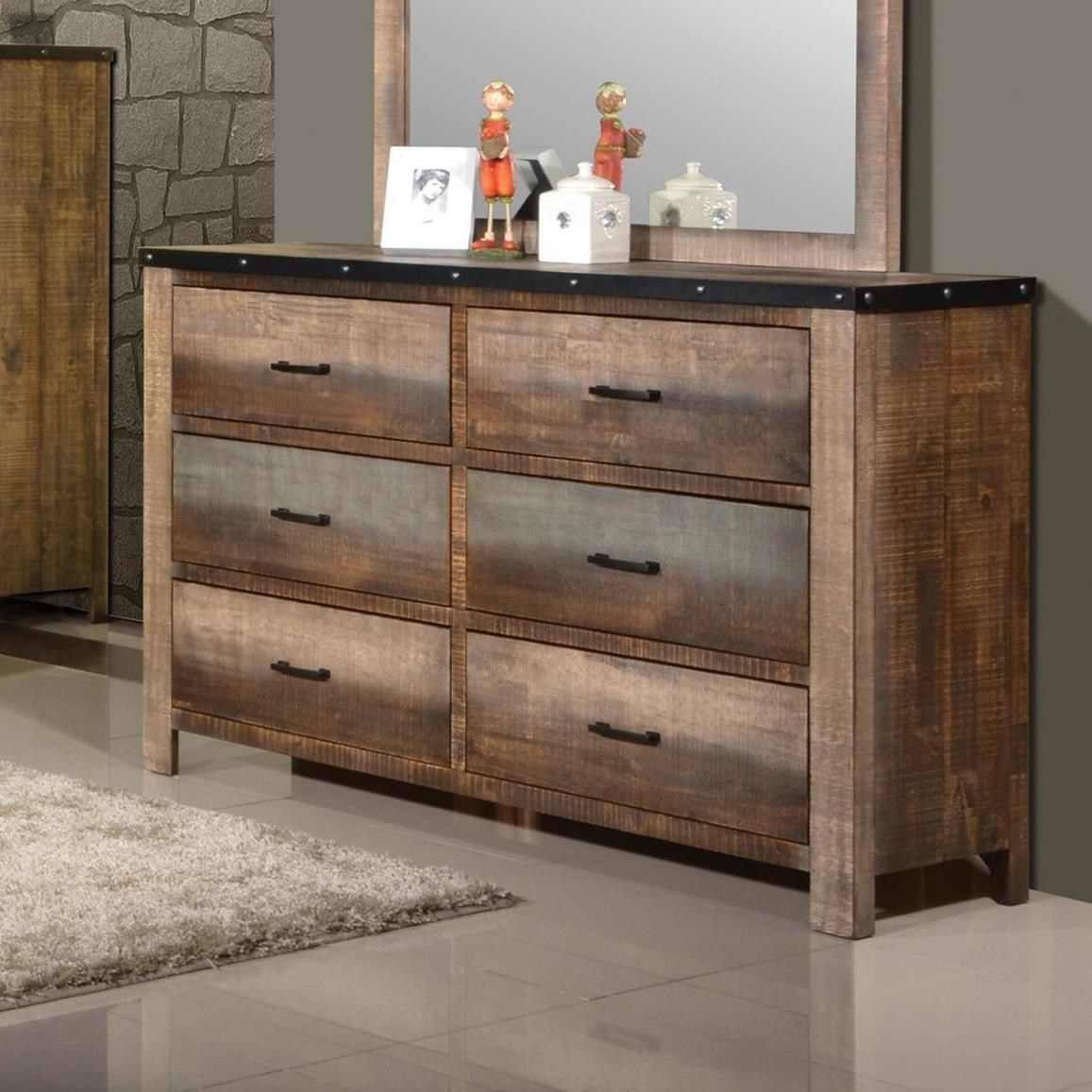 Coaster Sembene Rustic Dresser With Six Drawers Rife S