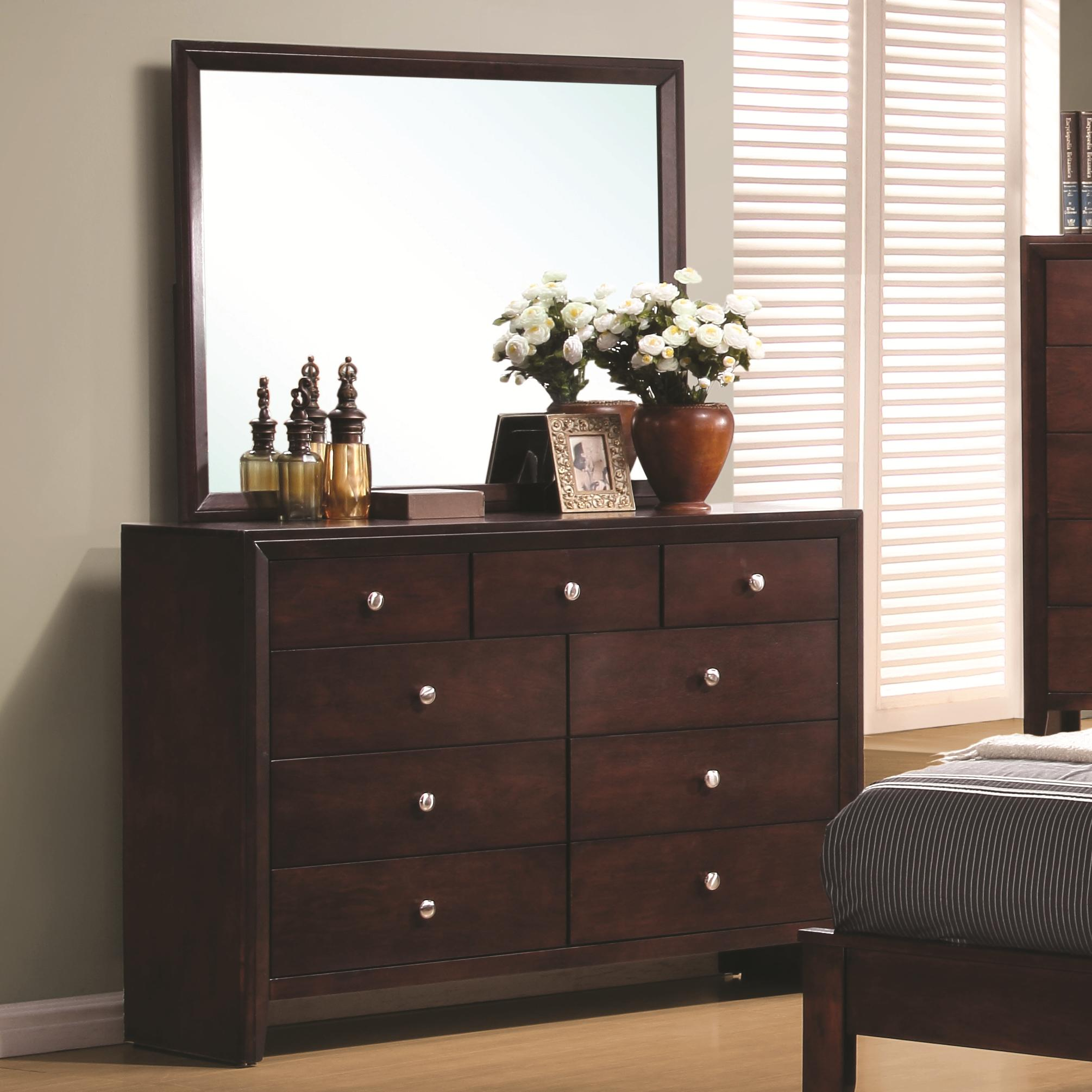 Coaster Serenity  Dresser and Mirror - Item Number: 201973+4