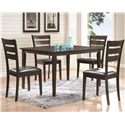 Coaster Shasta 5 Piece Set with Ladderback Chairs