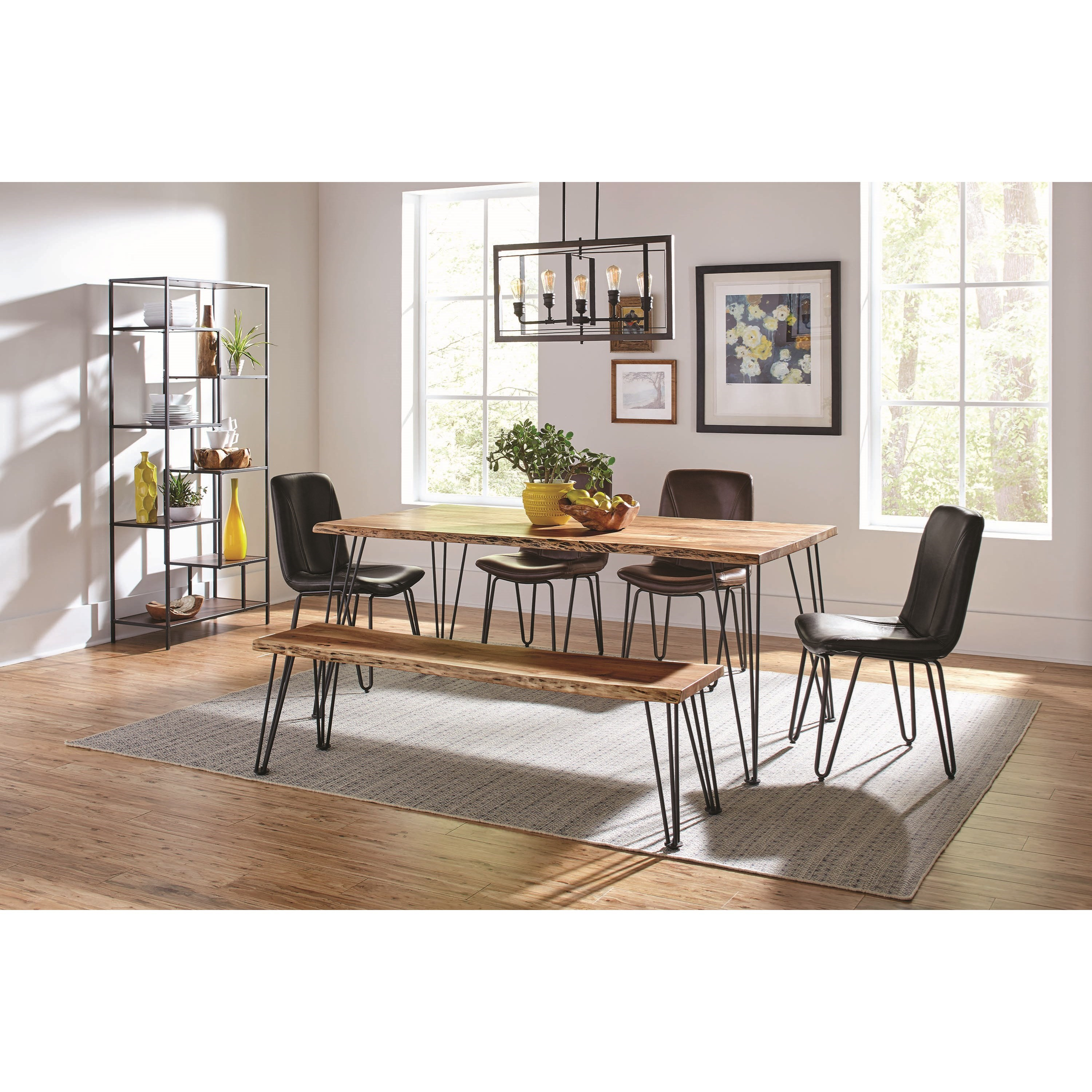 Coaster Sherman Rustic Dining Table With Live Edge