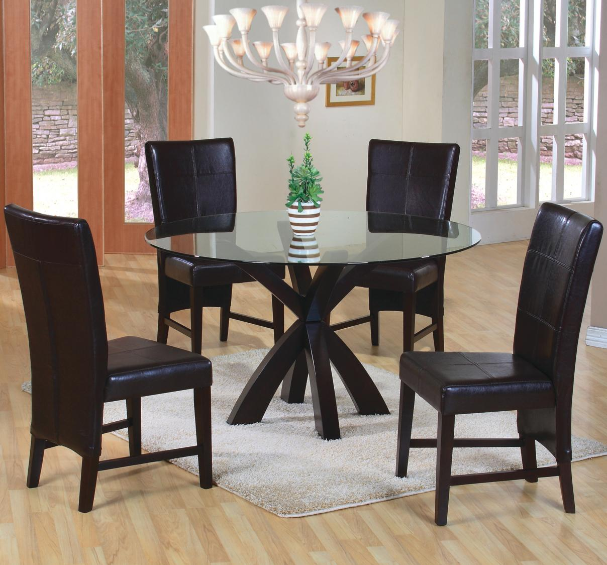 Coaster Carone Contemporary Glam Dining Room Set With: Coaster Shoemaker Crossing Pedestal Table Base With Round