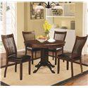 Coaster Sierra 5 Piece Dining Set - Item Number: 105750+4x752