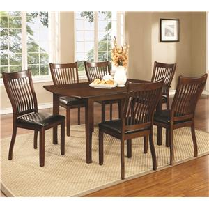 Coaster Sierra 7 Piece Dining Set