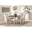 Coaster Simpson Dining Room Group with Oval Table - Item Number: 105180 Dining Room Group 1