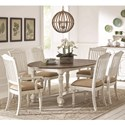 Coaster Simpson Table and Chair Set - Item Number: 105180+2x105183+4x105182