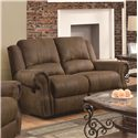 Coaster Sir Rawlinson Traditional Gliding Reclining Love Seat with Nailhead Studs - 650152