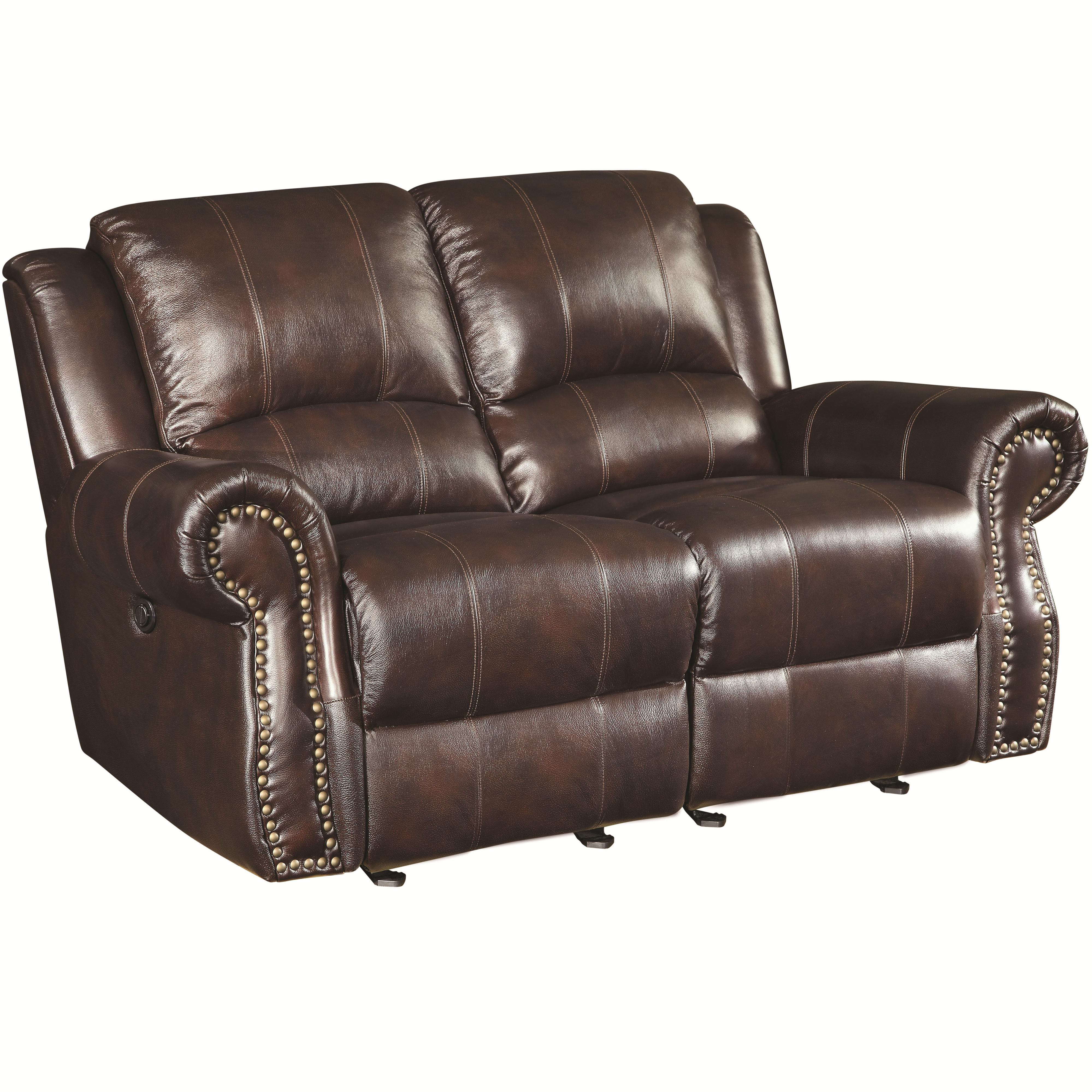 Coaster Sir Rawlinson Gliding Love Seat - Item Number: 650162- Burgundy Brown