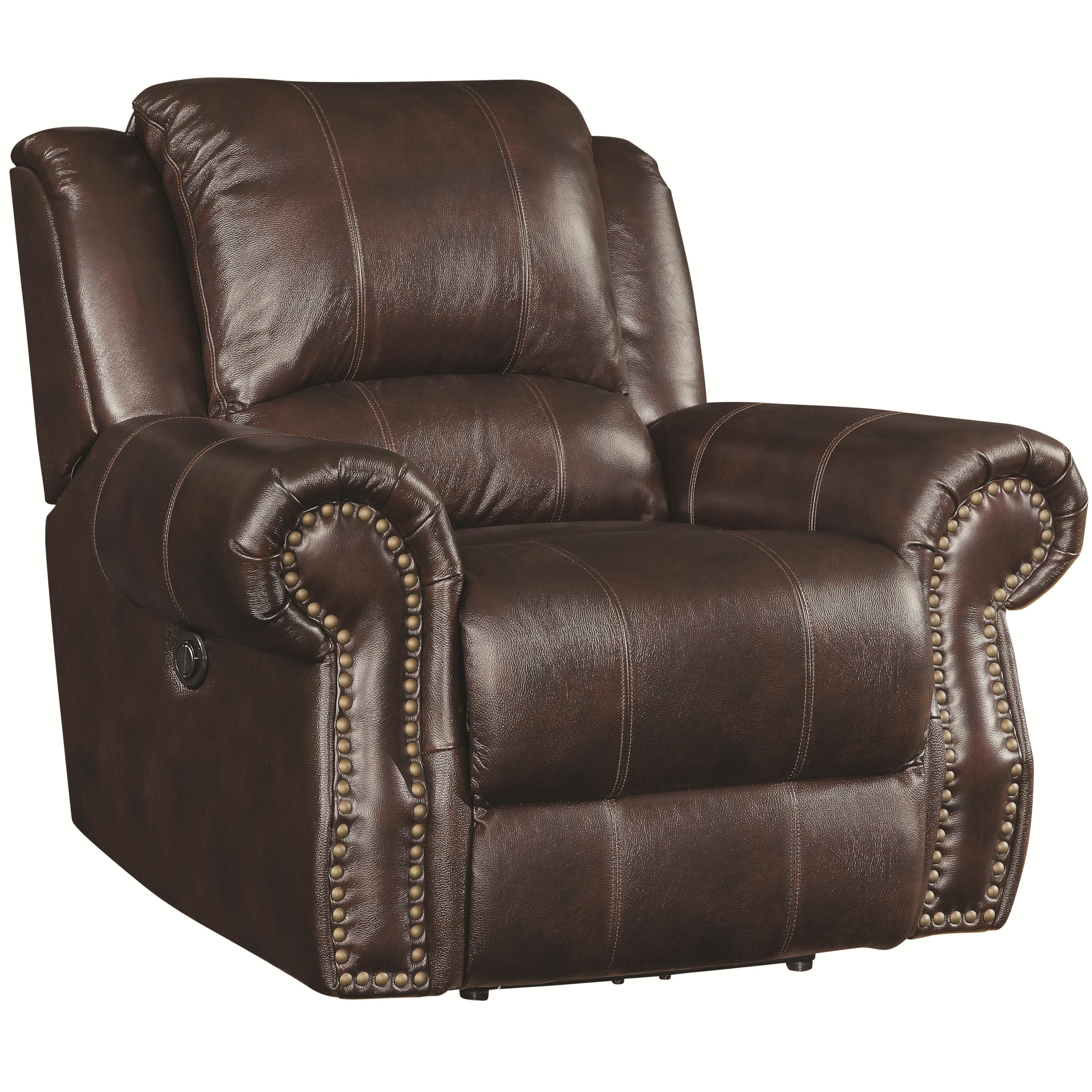 Value City Furniture Living Room Sets >> Coaster Sir Rawlinson Traditional Swivel Rocker Recliner with Nailhead Studs | Value City ...