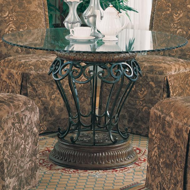 Coaster Slauson Clear Round Table Top and Base - Item Number: 120031+CR45RD