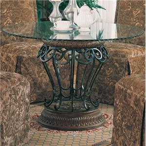 Coaster Slauson Clear Round Table Top and Base