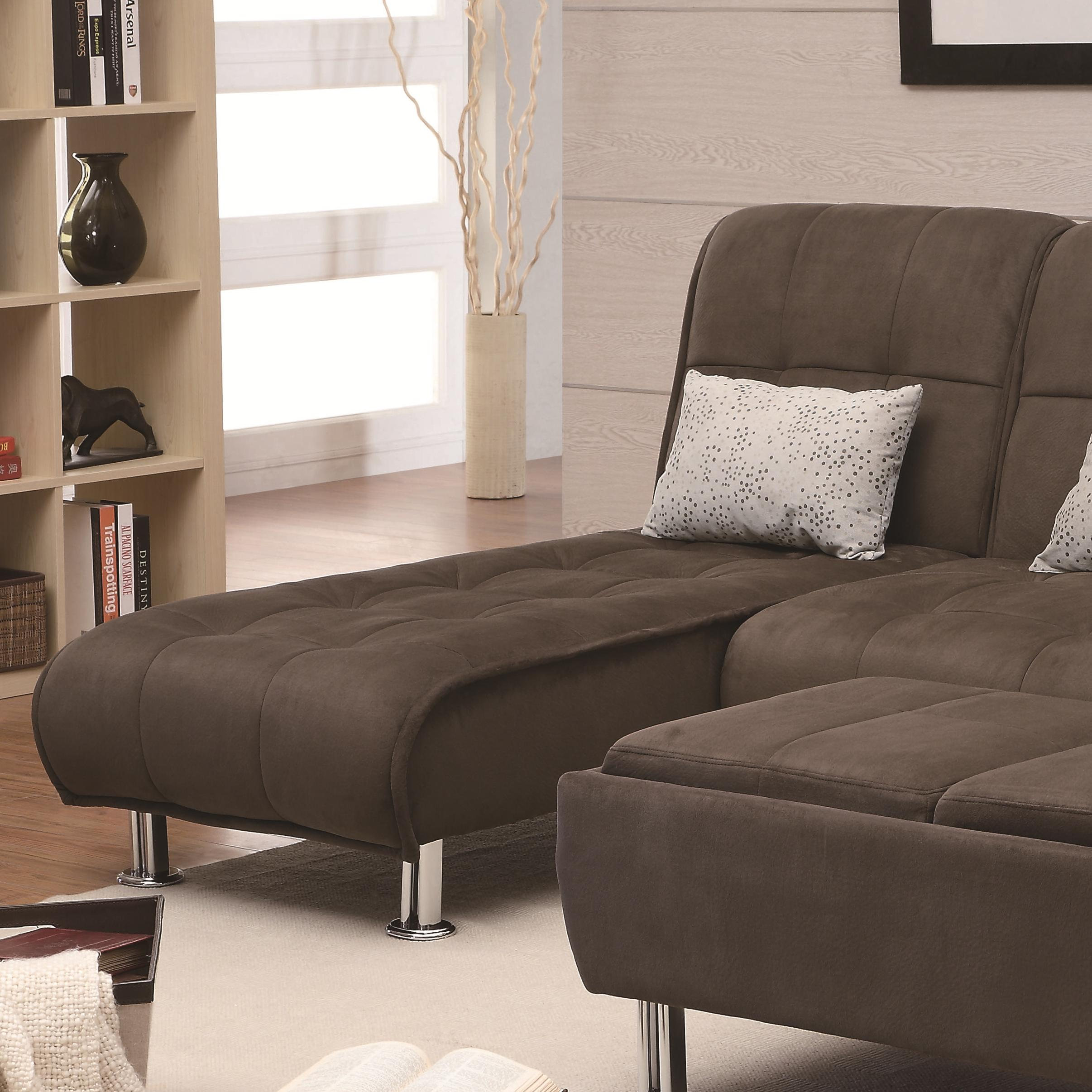 Coaster Sofa Beds and Futons -  Chaise Sofa - Item Number: 300277