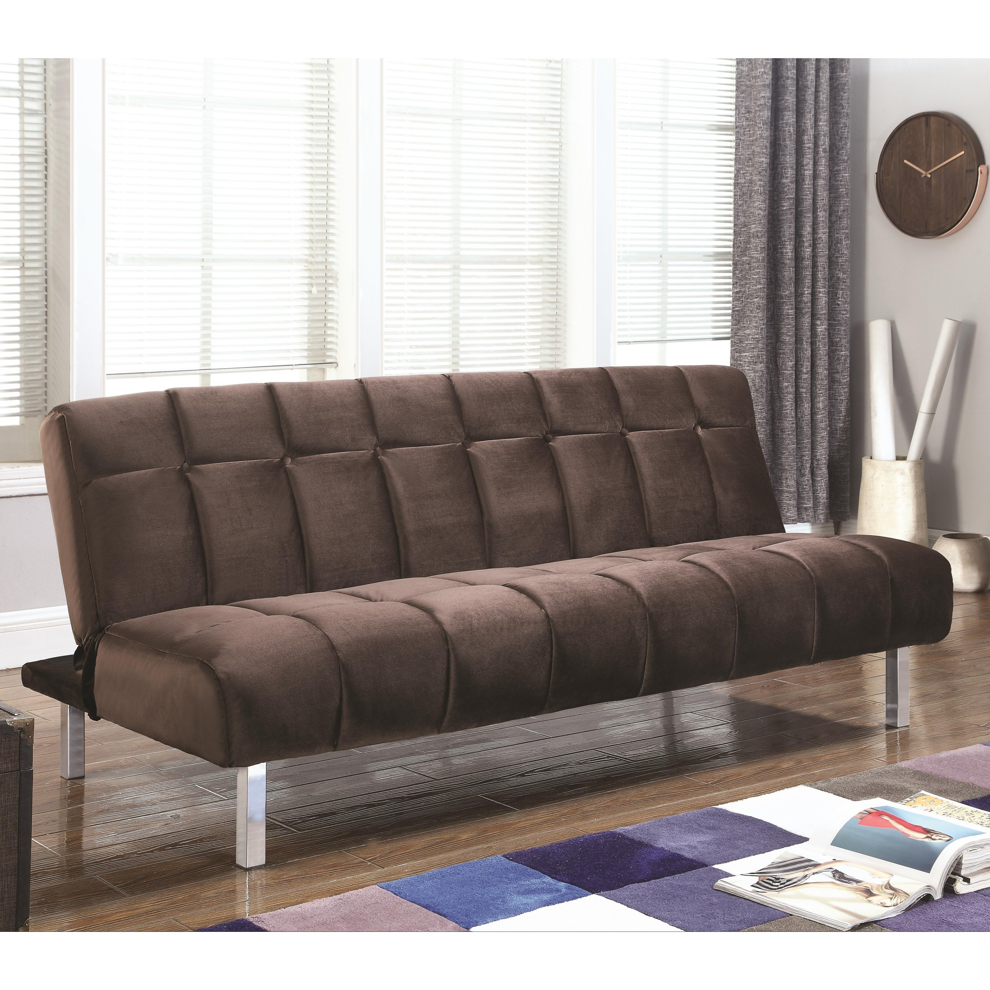 Designer Futons: Coaster Sofa Beds And Futons Contemporary Sofa Bed With