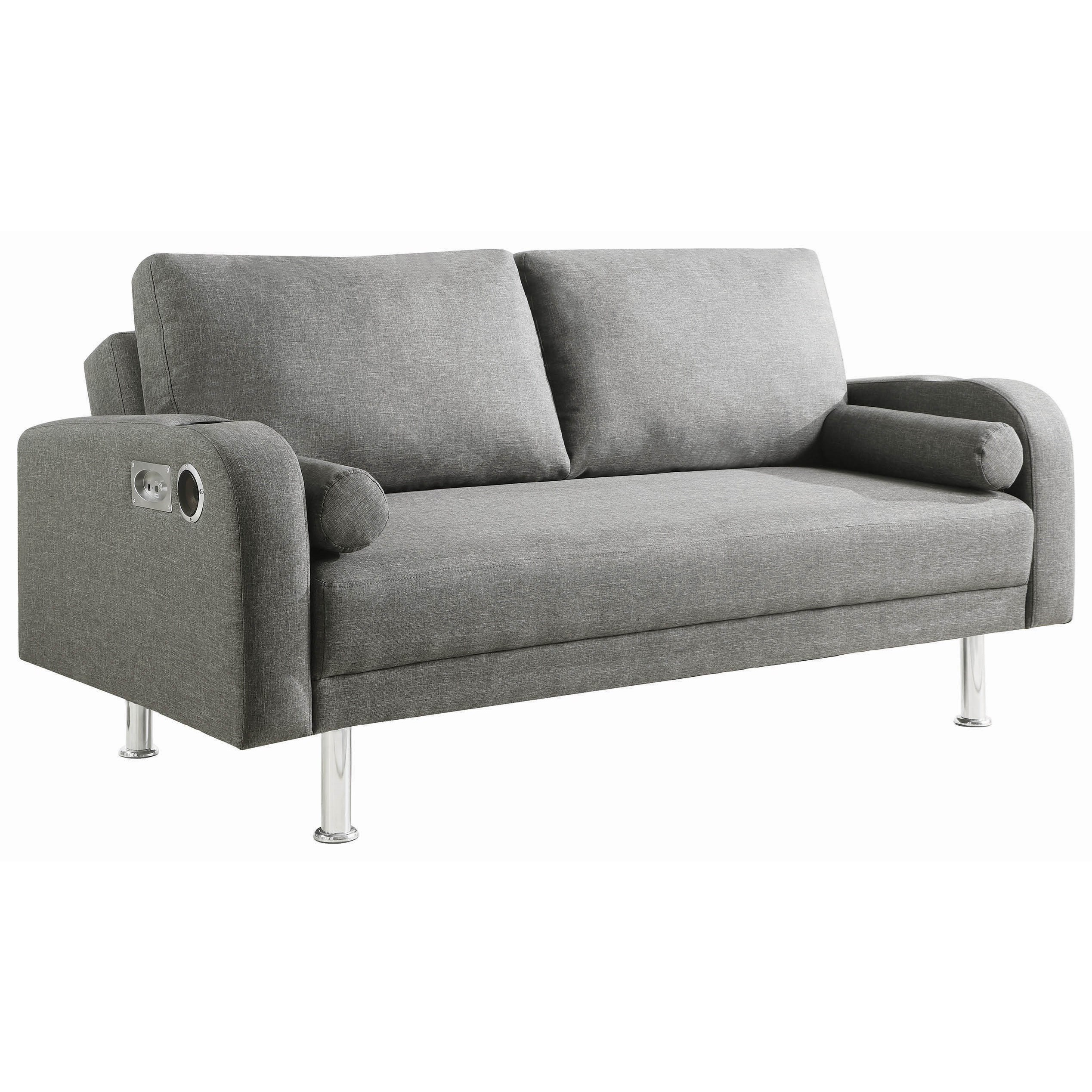 Sofa Beds and Futons Contemporary Sofa Bed with Bluetooth / AUX Speakers by  Coaster at Dunk & Bright Furniture