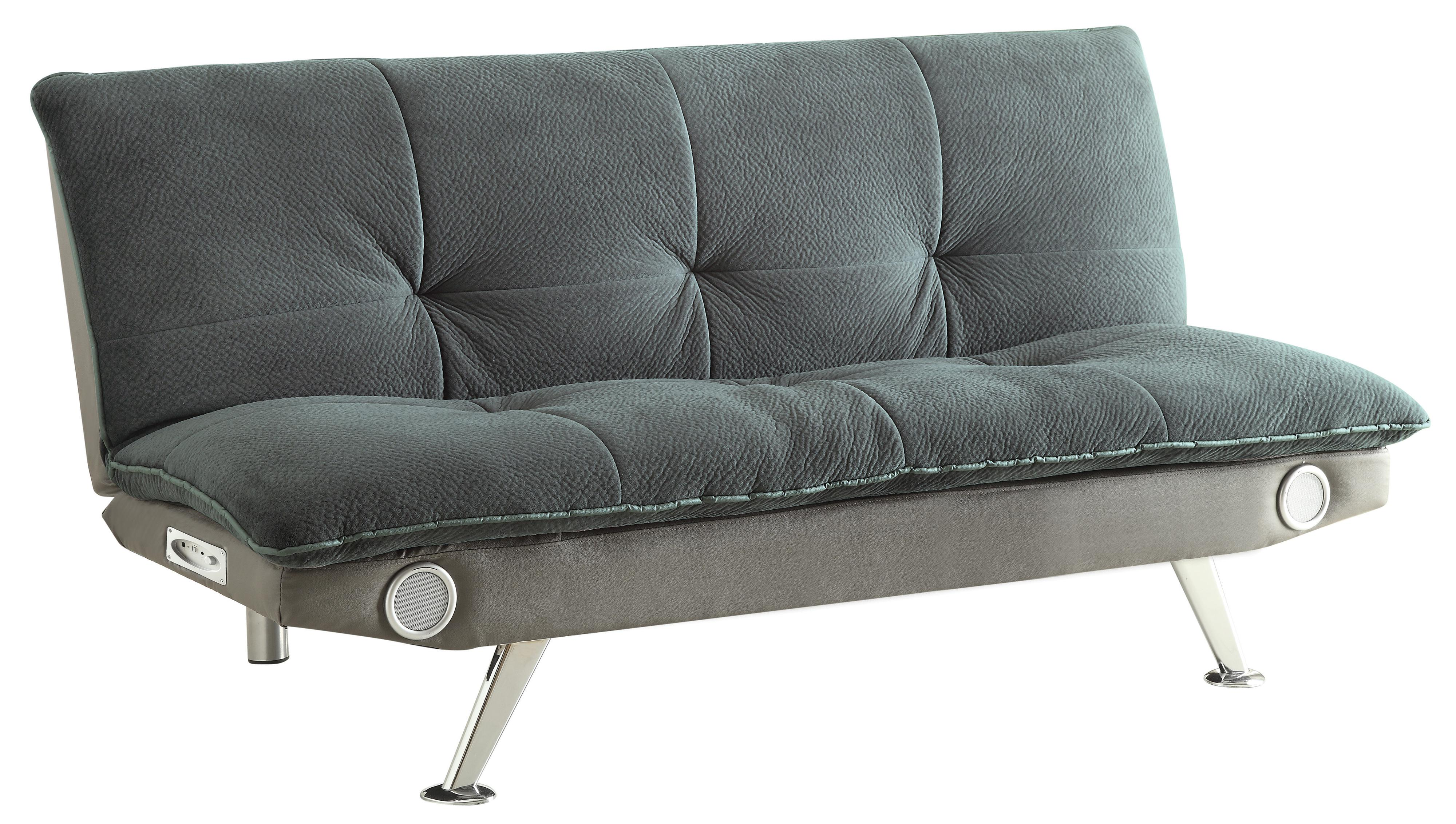 Coaster Sofa Beds and Futons -  Sofa Bed with Built-In Bluetooth Speakers - Item Number: 500046