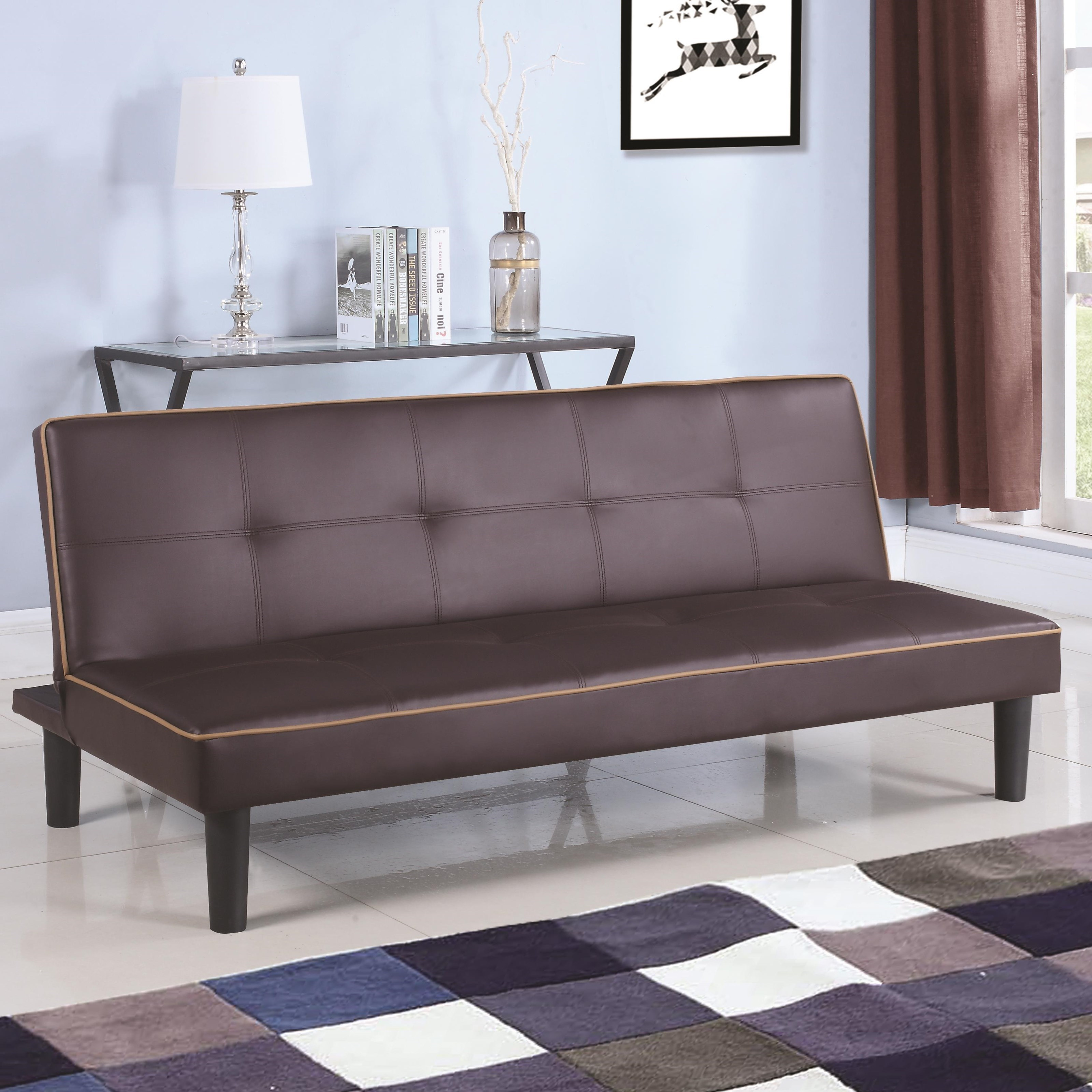couch black products microfiber itm beds best sofa folding choice futon ebay bed