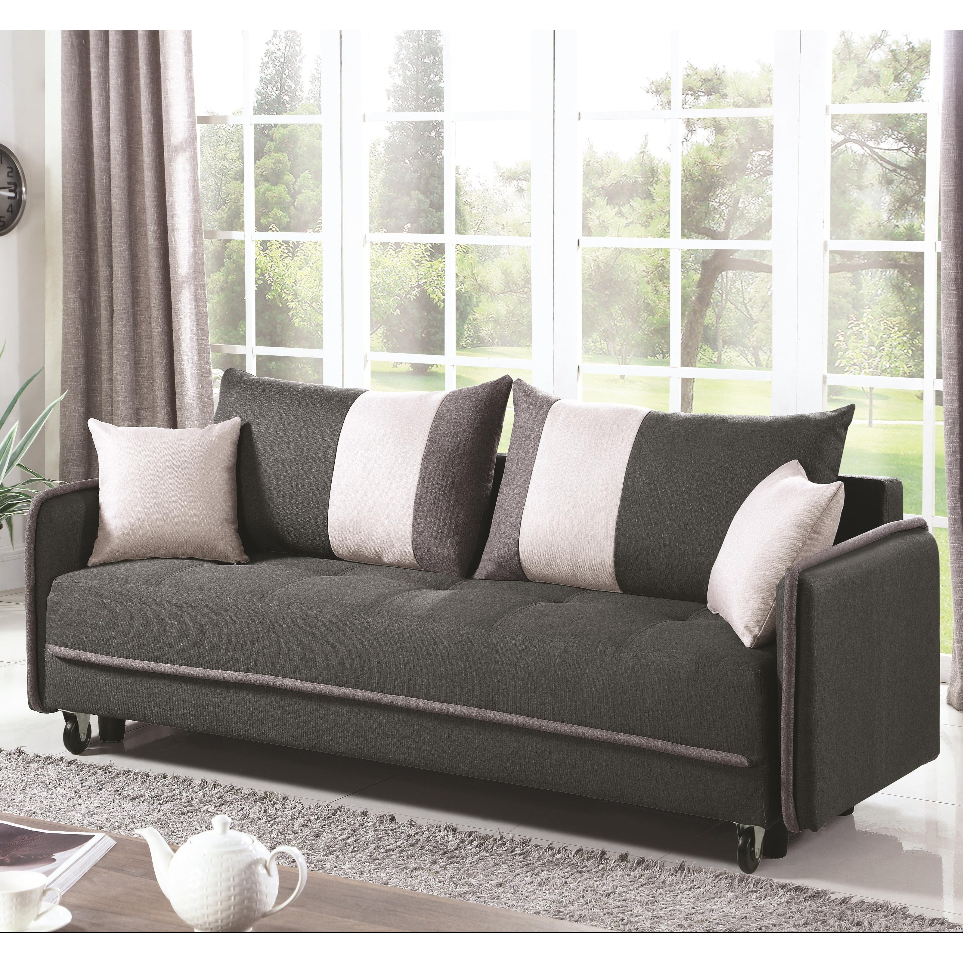 Coaster Sofa Beds And Futons Casual Convertible Sofa Value City
