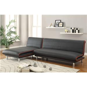 Coaster Sofa Beds and Futons -  Sectional with Sofa Bed & Sofa Chaise