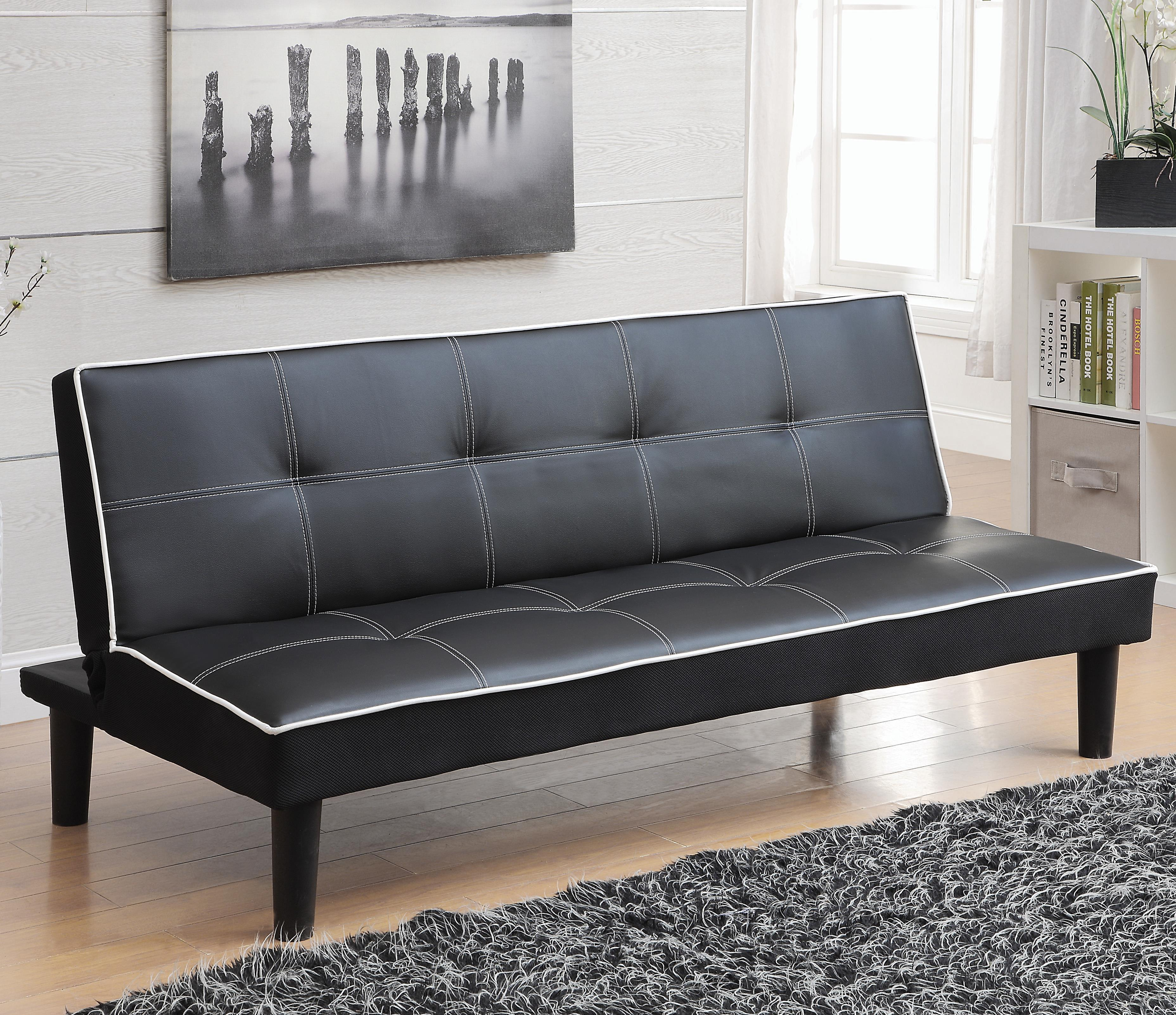 Sofa Beds and Futons Leatherette Sofa Bed Piping by Coaster at A1 Furniture  & Mattress