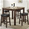 Coaster Sofie 5 Piece Counter Height Dining Set - Item Number: 150302