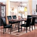 Coaster Soho Parson Side Chair - 4077BLK - Shown as part of table set