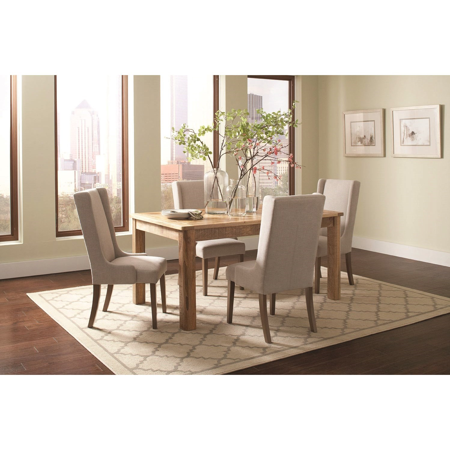 Coaster Solomon Table and Chair Set - Item Number: 106691+4x100353