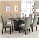 Coaster Stanton  Gray Chair - 102062 - Shown with Dining Table