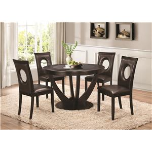 Coaster Stapleton 5 Piece Table and Chairs Set