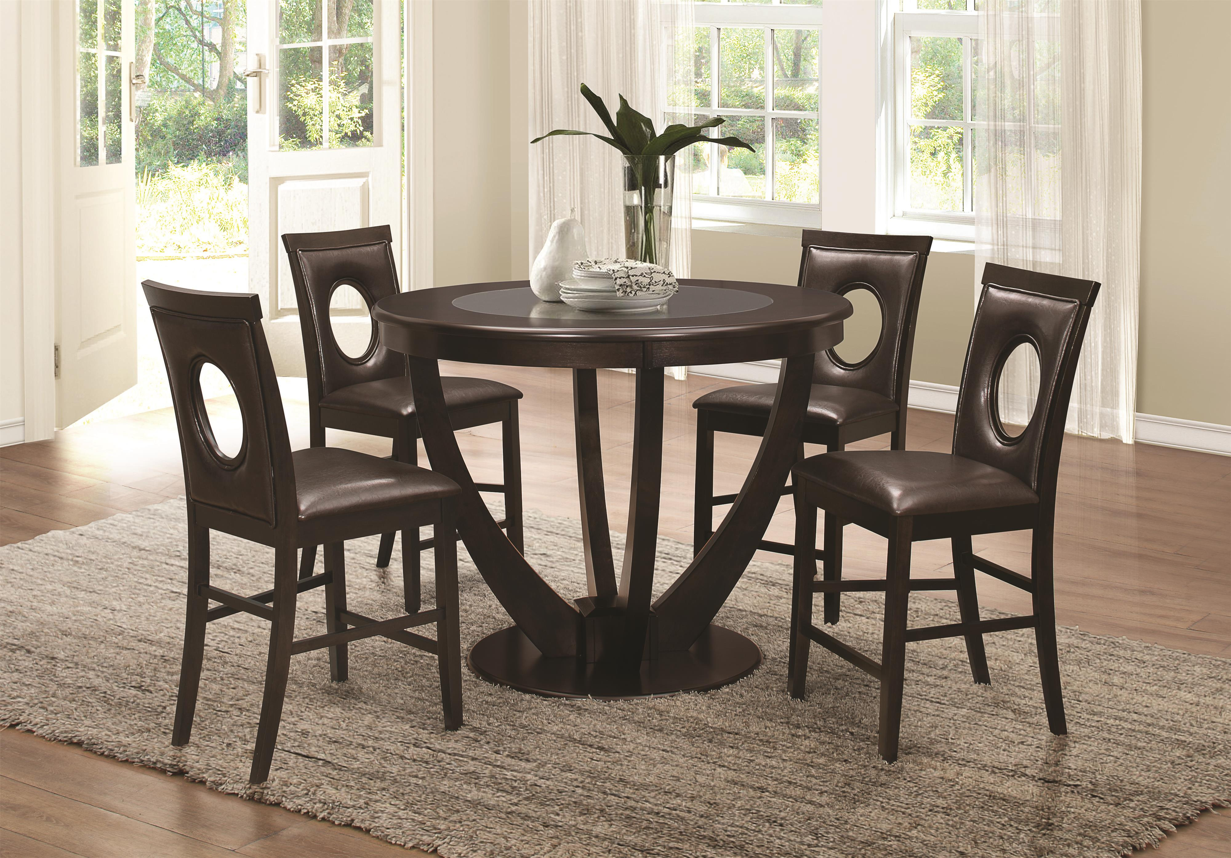 Coaster Stapleton Counter Height Table and Chair Set - Item Number: 106748+4x49