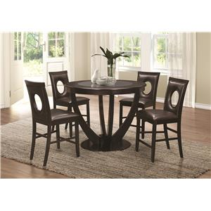 Coaster Stapleton Counter Height Table and Chair Set