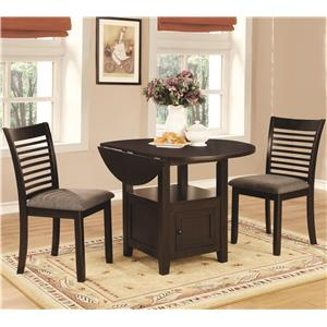 Coaster Stockton 3 Piece Dining Set