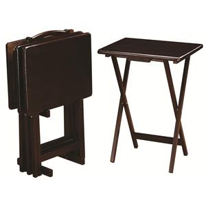 Coaster Tray Tables 5 Piece Tray Table Set