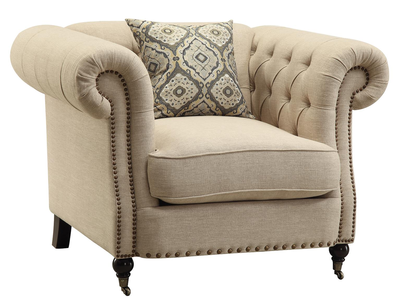 Coaster Trivellato 505823 Traditional Button Tufted Chair