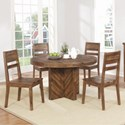 Coaster Tucson 5 Piece Table and Chair Set - Item Number: 108170+4x72