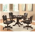 Coaster Turk 3-in-1 Round Pedestal Game Table - 100871