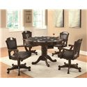 Coaster Turk Arm Game Chair with Casters and Fabric Seat and Back  - 100872